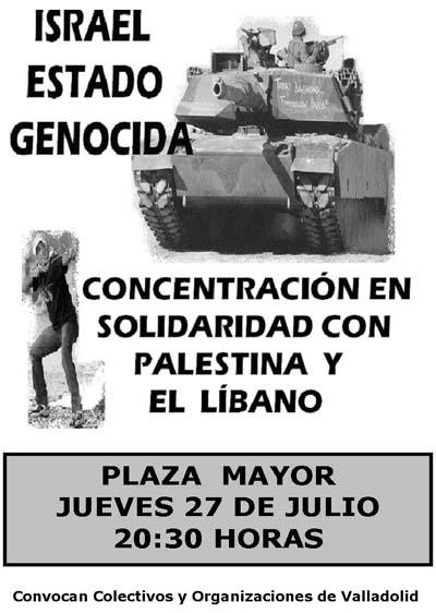 solidaridad con Palestina y Libano